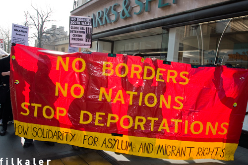 Nottingham No Borders banner